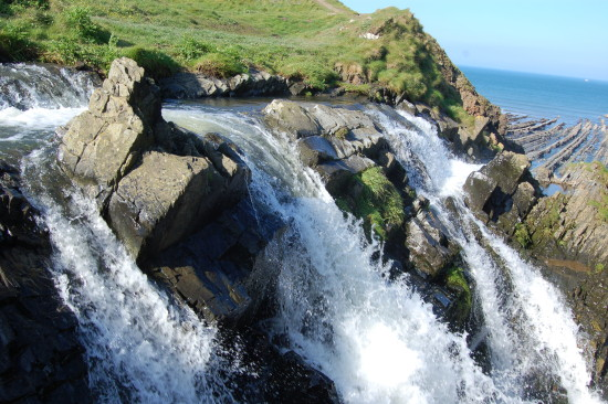 waterfall welcombe mouth devon