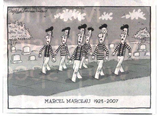 Marcel Marceau mime political cartoon