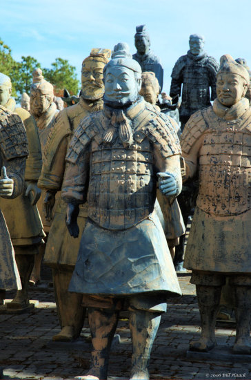 Houston texas us usa park forbidden 2006 terracotta warrior