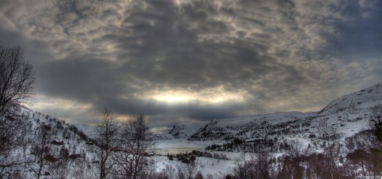 Ice snow landscape lake sunray winter Norway