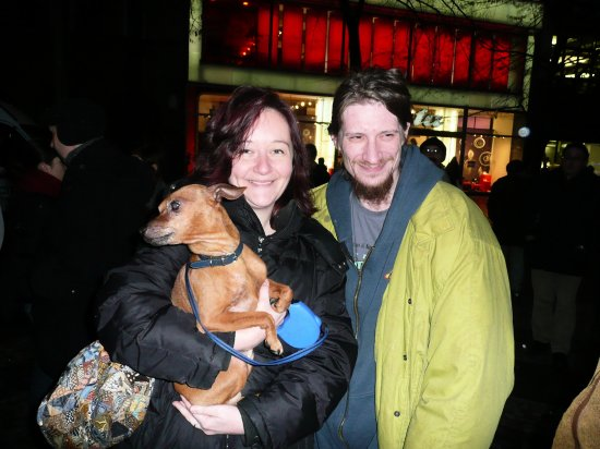 friends meeting street dog anniversary Velvet revolution Prague Czechrepublic