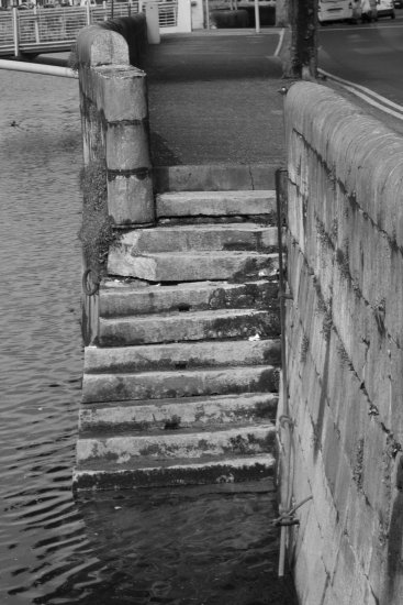 ireland cork river lee stairs quay