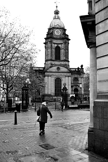 Old Lady, St Philips Cathedral, Birmingham