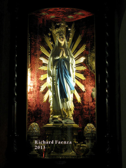 Our Lady of Lourdes in Ta' Giezu church, Valletta, Malta.