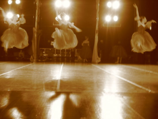 ballet dancers jump stage nutcracker