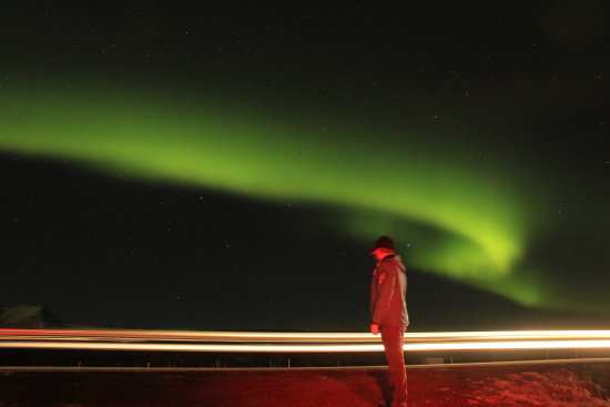Me, and the Northern lights in Iceland