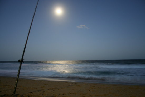 moon ocean fishing
