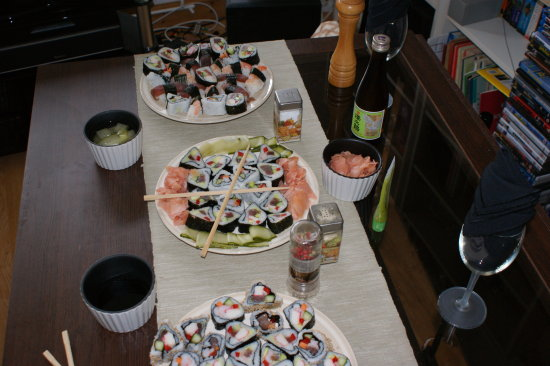 food japan sushi seafood rice asian salmon prawns wasabi nori mirin
