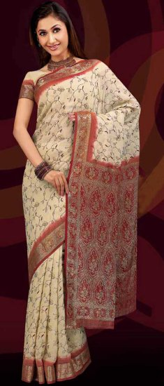 Blouse with Saree Crush Soft White Off Dealer