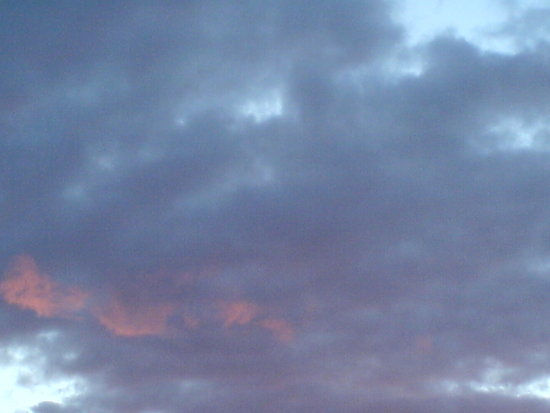 pink evening clouds
