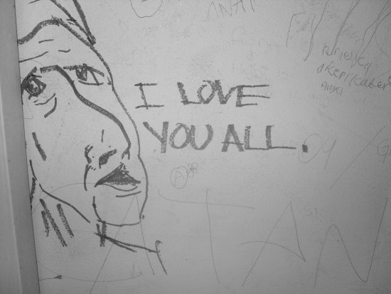 candy hell 666 drawing grafitti i love you