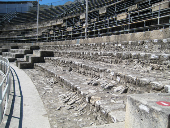 30. Arles - the amphitheatre - the seats don't look very comfortable!