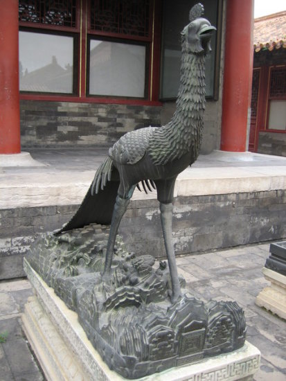 china beijing forbiddencity phoenix sculpture
