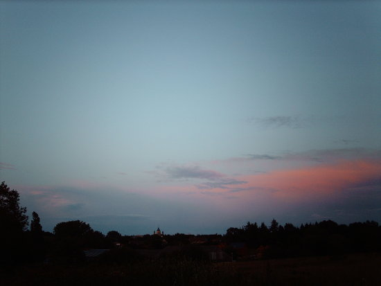 Belgium Nivelles pink blue evening