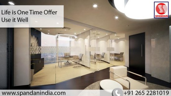 Turnkey Interior Designers Modern Office Interior Design Glass Office Cabin  Fu