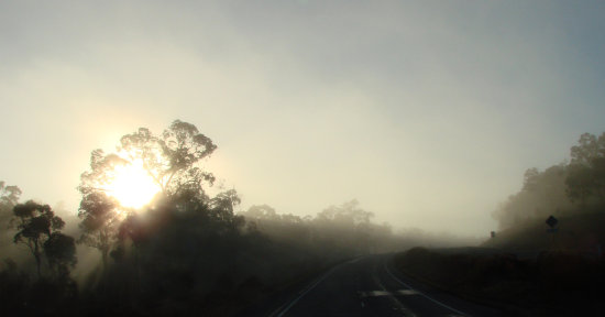 sunrise sunshine fog highway perth littleollie