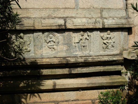 Bangalore India Nandi Hills Temple Sculpture Wall