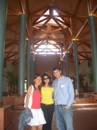 My friends, estaban (from Mexico) and Wendy (from Singapore)