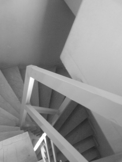 architecture stair BW