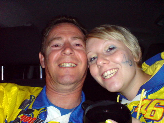 Donington Park 2009, early doors. My princess and me waiting for them to open so we can go see ou...