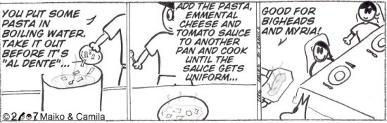 cartoon bigheads pasta recipe