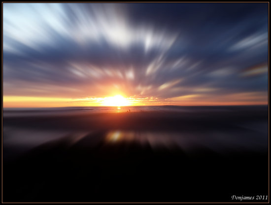 abstract sunset gimp