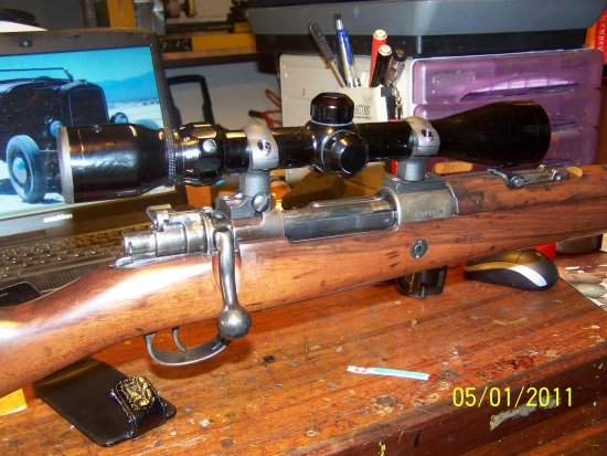 MAUSER 1903 Argentine 30 06 bolt action chopper welded for install the Scope