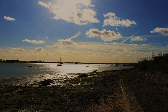 Heybridge Basin in Essex with the tide out