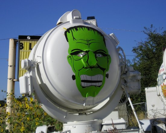 Frankenstein spotlight outdoor halloween