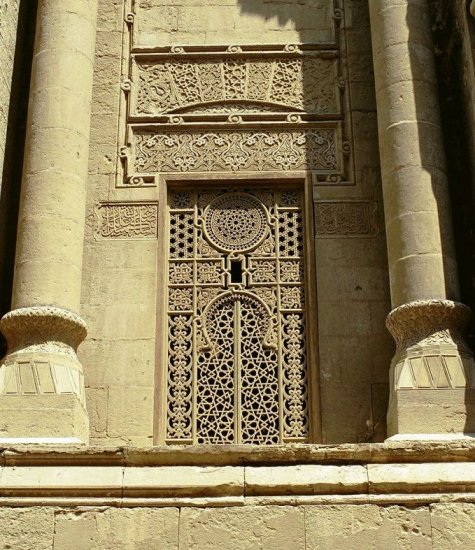 AlRifai Mosque window detail Cairo old city islamic architecture Nikon F3
