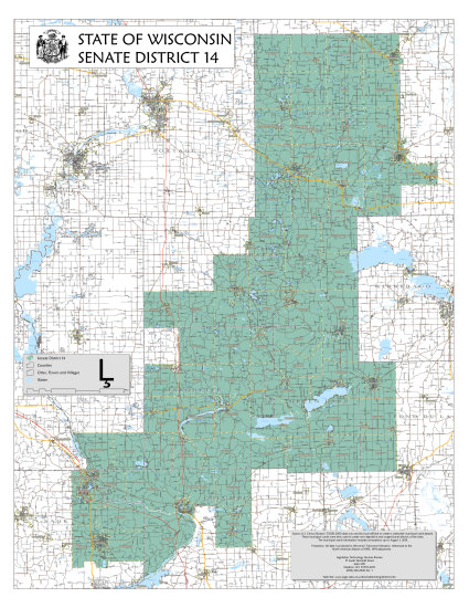 senator luther olsen wisconsin boundary map district 14 ripon recall district14