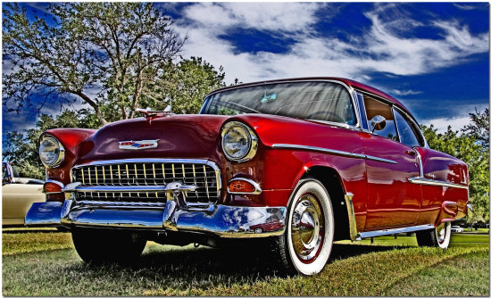 auto car chevy bel air classic