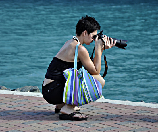 msnoordam cruise ship woman photographer stthomas usvi - Cruise Ship Photographer