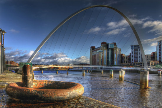 HDR Landscape Architecture Bridge River_Tyne Newcastle
