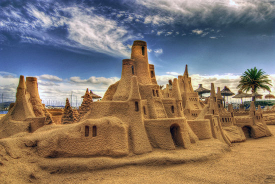 HDR SEaside Sandcastle