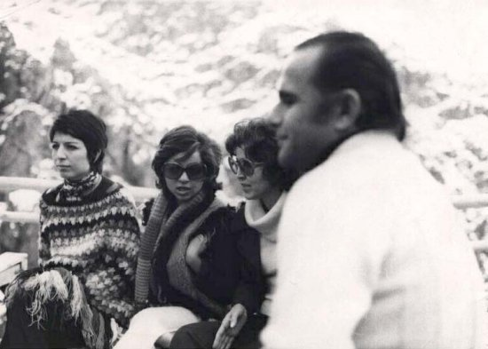 Left to right Maryam Neshat singer Sima Bina Eghbal Moshiri and her poet husband