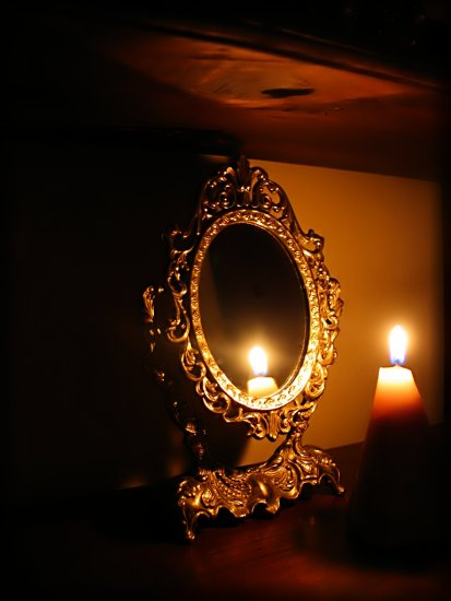 candlefriday candle mirror reflection light