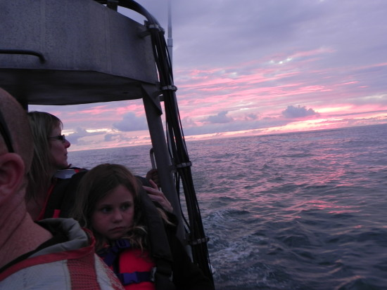 Cutter cruise at sunset.