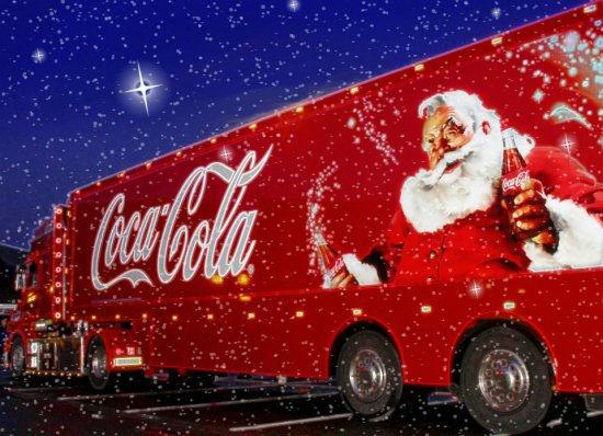 coke coca cola truck christmas