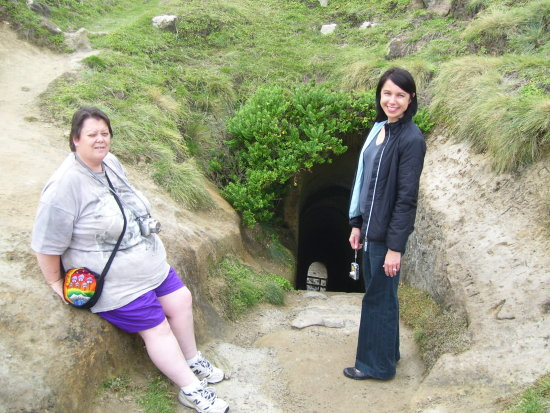 Tunnel Beach Dunedin Coast Pacific Ocean Tourists Visitors Landmark Historical C
