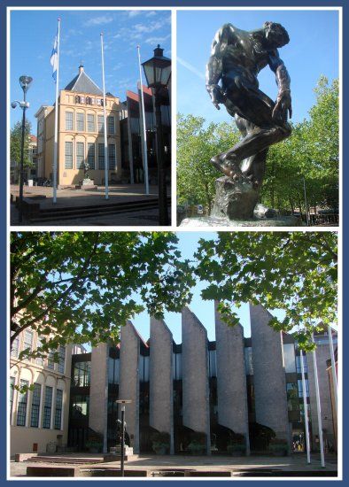 Holland Zwolle Cityhall architecture art Rodin Adam sculpture