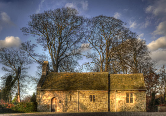 lotherton hall Yorkshire church sky trees winter hdr
