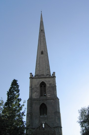 Worcester England spire church