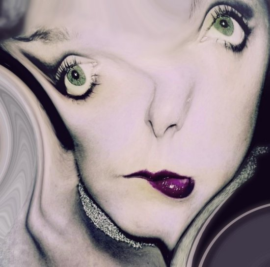 abstract surreal distort portrait people face woman series weird keitology