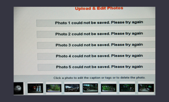 a constant result when uploading photos on fotothing