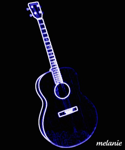 neon guitar digitalart digitalartclub mellie
