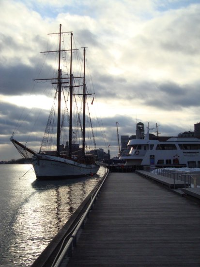 At 5:06pm-2nd Photo-At Harbourfront-'Empire Sandy' Ship-Toronto,Ont.,On Saturday,Mar.2,2013