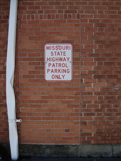missouri highay patrol brick wall