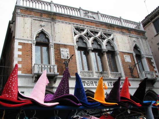 venezia venice italy witch hats