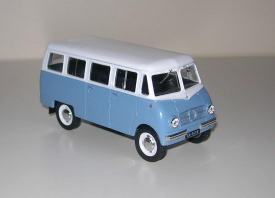 Nysa N59 from Poland 1959 diecast toy minibus 143 scale collection ixo